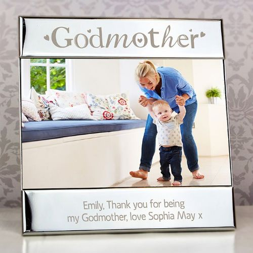 Personalised Silver Godmother Square 6x4 Frame